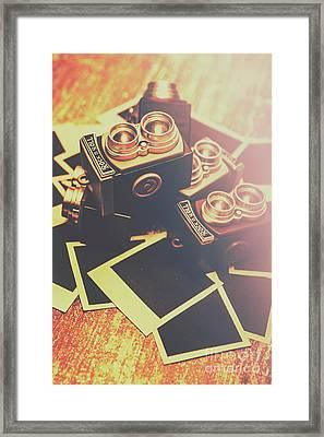 Retro Twin Lens Reflex Cameras Framed Print