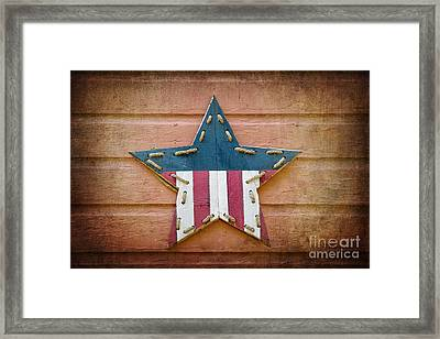 Retro Usa Star Framed Print