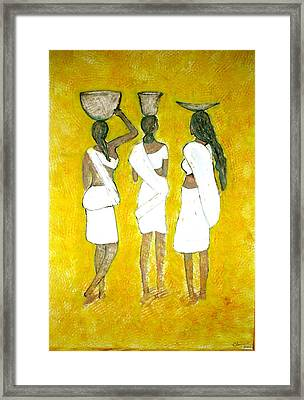 Return From Market Framed Print by Narayanan Ramachandran