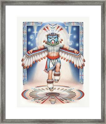 Return Of The Blue Star Kachina Framed Print