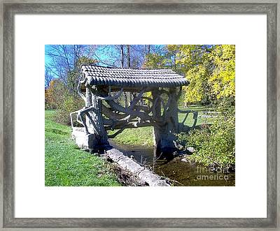 Return To Bridge Park Framed Print by Emily Kelley