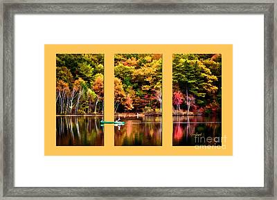 Return To Lake Transition  Framed Print by Garland Johnson