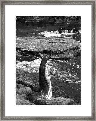 Return To The Falls Framed Print by Debbie May