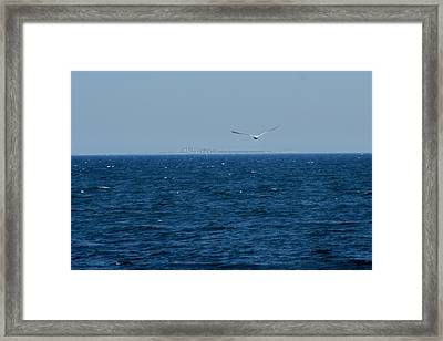 Framed Print featuring the digital art Return To The Isle Of Shoals by Barbara S Nickerson
