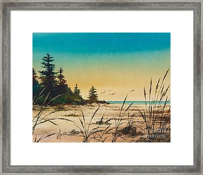 Return To The Shore Framed Print by James Williamson