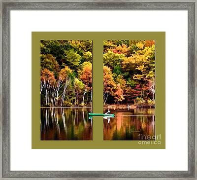Return To Lake Transition Two Thirds Framed Print by Garland Johnson