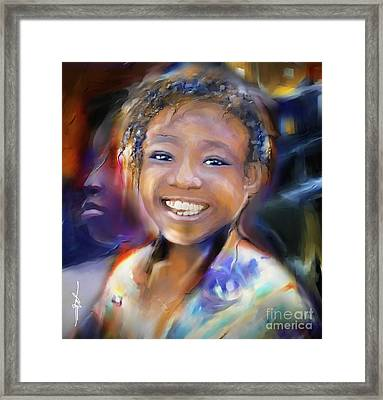 Returning A Smile Framed Print