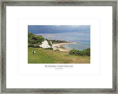 Framed Print featuring the digital art Returning From Cow Gap by Julian Perry