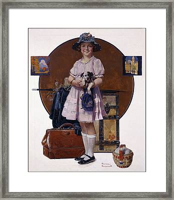 Returning From Summer Vacation Framed Print by Norman Rockwell