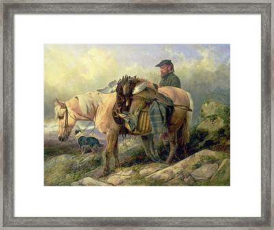 Returning From The Hill Framed Print by Richard Ansdell
