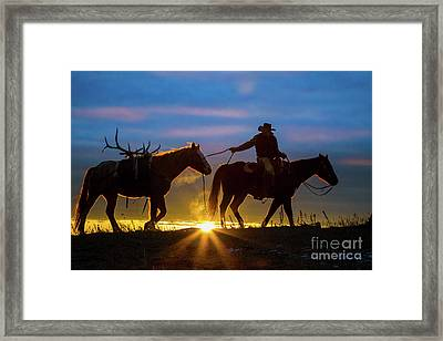 Returning Home Framed Print by Inge Johnsson