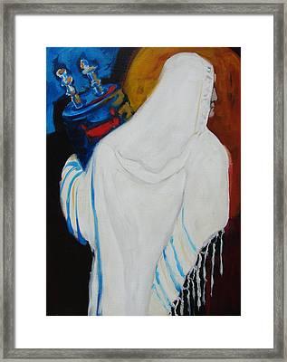Returning The Torah Framed Print