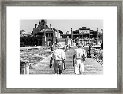 Returning To Asbury Park Framed Print