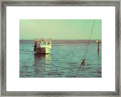 Returning To Port Framed Print by JAMART Photography