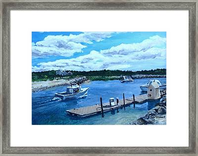 Returning To Sesuit Harbor Framed Print by Jack Skinner
