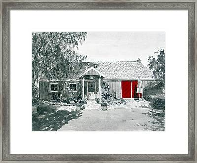 Retzlaff Winery With Red Door No. 2 Framed Print by Mike Robles
