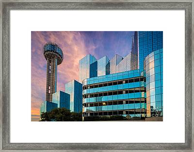 Reunion Sunrise Framed Print