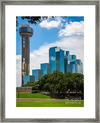 Reunion Tower Framed Print by Inge Johnsson