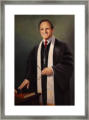 Rev John Miles Framed Print