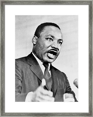 Rev. Martin Luther King, Speaking Framed Print