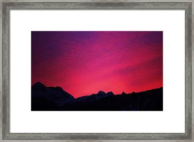 Reve Sunset Framed Print by Allister Pitts