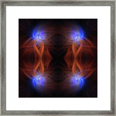 Revealed Light. Mystery Of Colors Framed Print by Jenny Rainbow