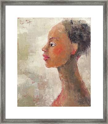 Revealing Framed Print by Becky Kim