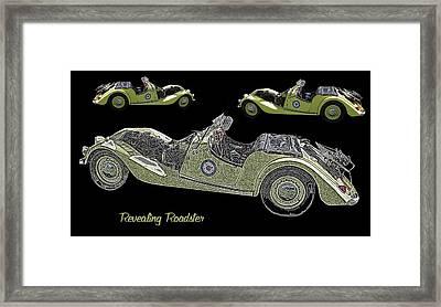 Revealing Roadster Framed Print by David and Lynn Keller