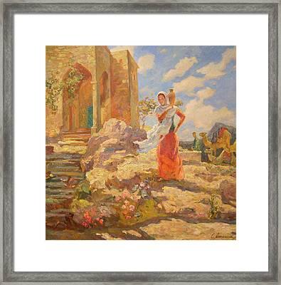 Revekka Near The Well Framed Print by Svetlana Anoshkina