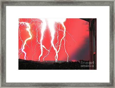 Lightning Apocalypse Framed Print