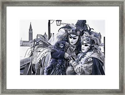 Revelry In Venice Framed Print by Susan Maxwell Schmidt