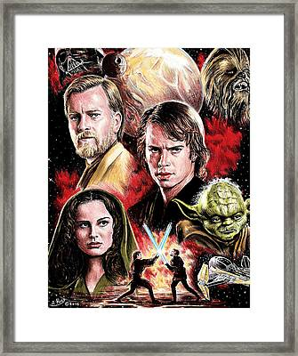 Revenge Of The Sith Edit Framed Print by Andrew Read