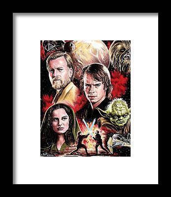 Star Wars Episode 3 Framed Prints