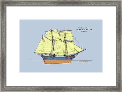 Revenue Cutter Massachusetts In Color Framed Print