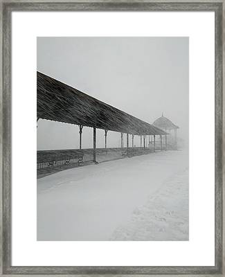 Revere Beach Nor'easter -jan 4,2018 Framed Print