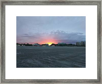 Revere Beach Sunset Framed Print