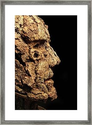 Revered A Natural Portrait Bust Sculpture By Adam Long Framed Print by Adam Long