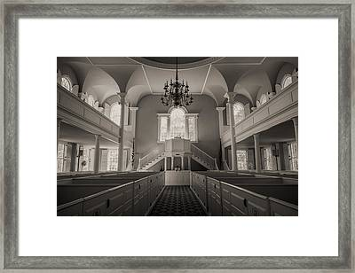 Reverence - Old First Church Of Bennington Framed Print by Stephen Stookey