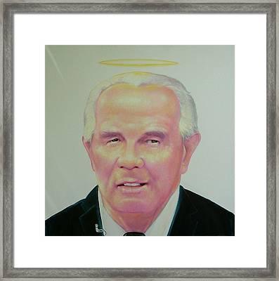 Reverend Pat Robertson Framed Print by Gary Kaemmer