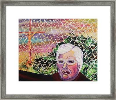 Reverend Shuller Framed Print by Suzanne  Marie Leclair