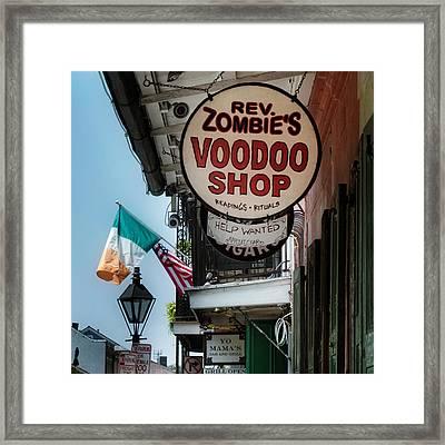 Reverend Zombie's House Of Voodoo Framed Print