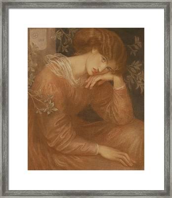 Reverie Framed Print by Dante Gabriel Charles Rossetti