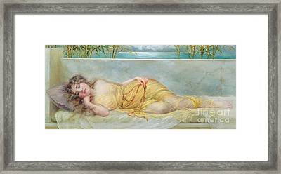Reverie Framed Print by Norman Prescott Davies