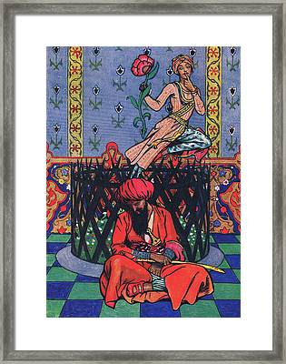 Reverie Of Ormuz The Persian Framed Print by John Byam Liston Shaw