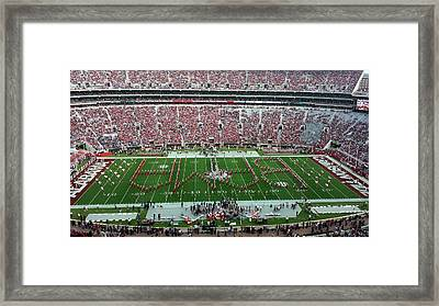 Reverse Bama Spell-out Framed Print by Kenny Glover