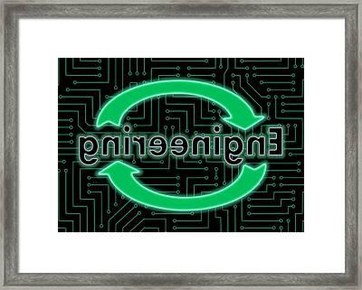Reverse Engineering Framed Print