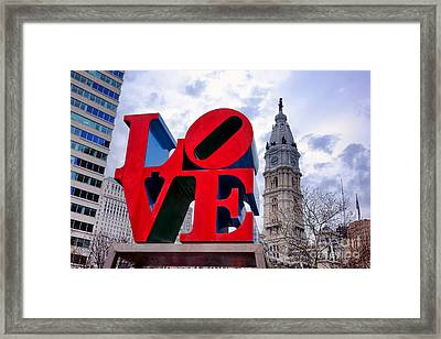 Reverse Love Framed Print