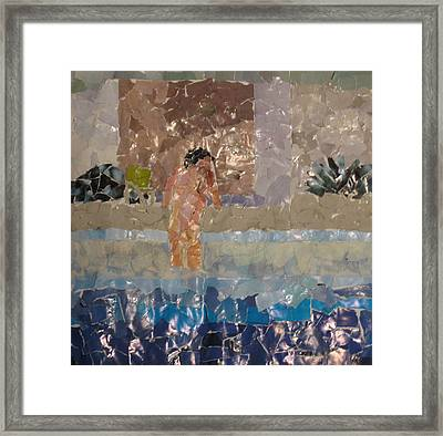 Reverse Pool Action Framed Print by Frankie Graham