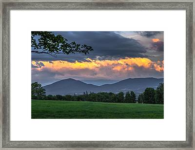 Reverse Sunset Framed Print by Tim Kirchoff