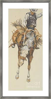 Revised Bucking Horse Framed Print